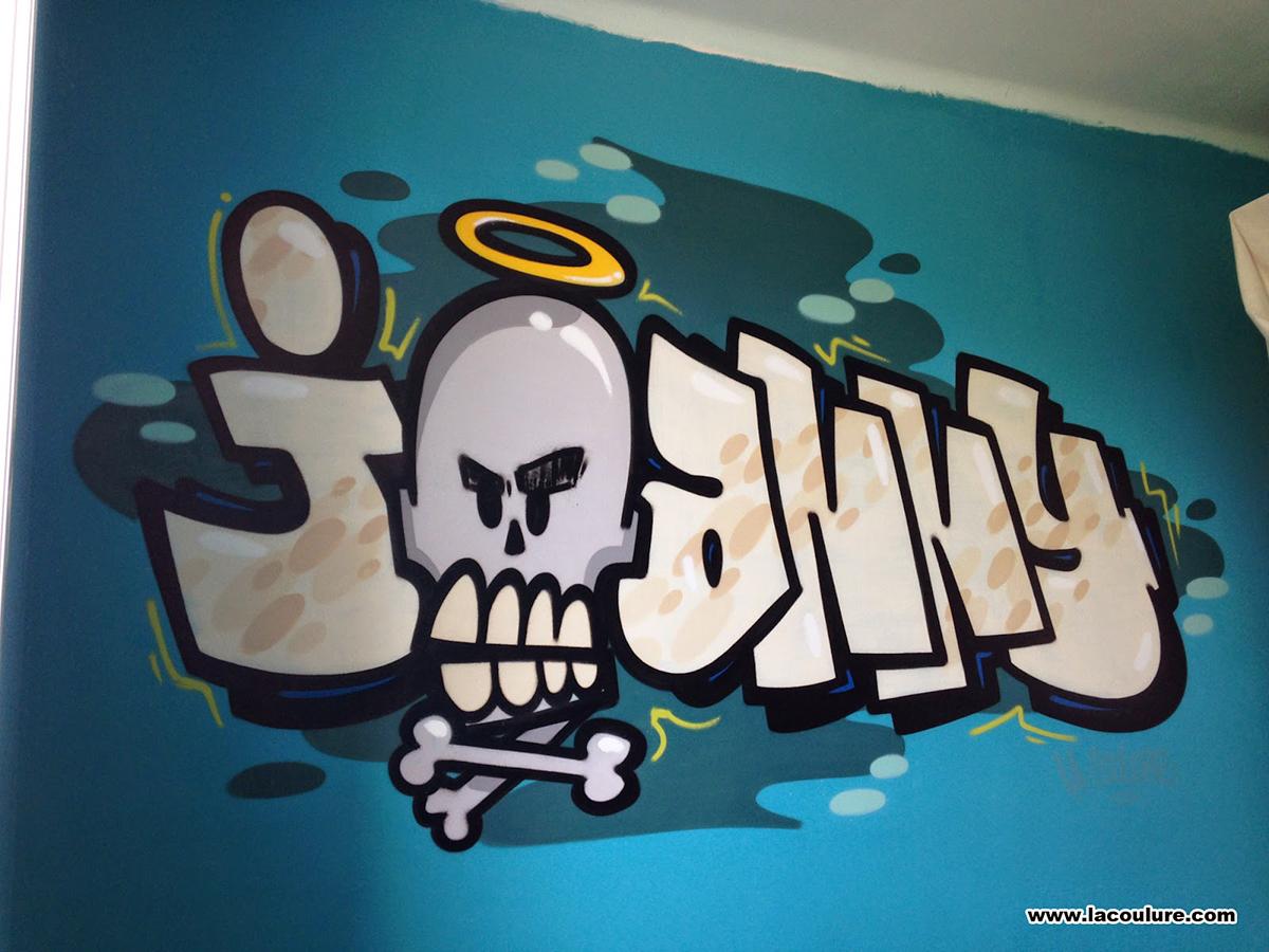 chambre d 39 enfant graffiti joanny la coulure. Black Bedroom Furniture Sets. Home Design Ideas
