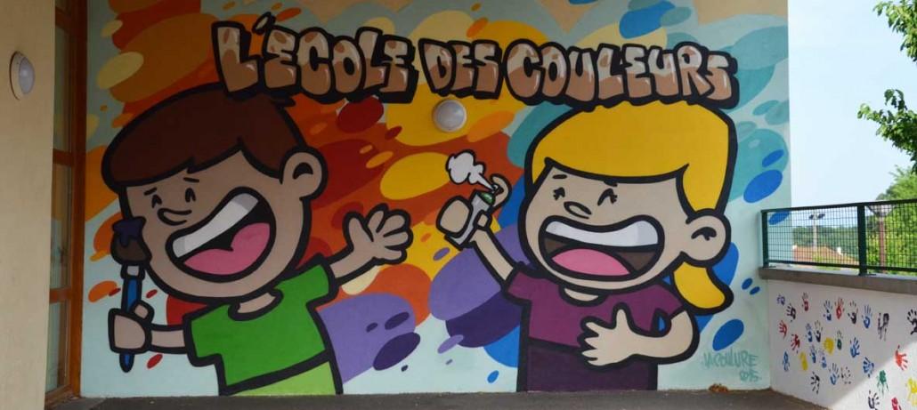 Nouvelle Peinture Murale à l\'Ecole des Couleurs - La Coulure