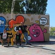 street art à lyon poulet et la coulure