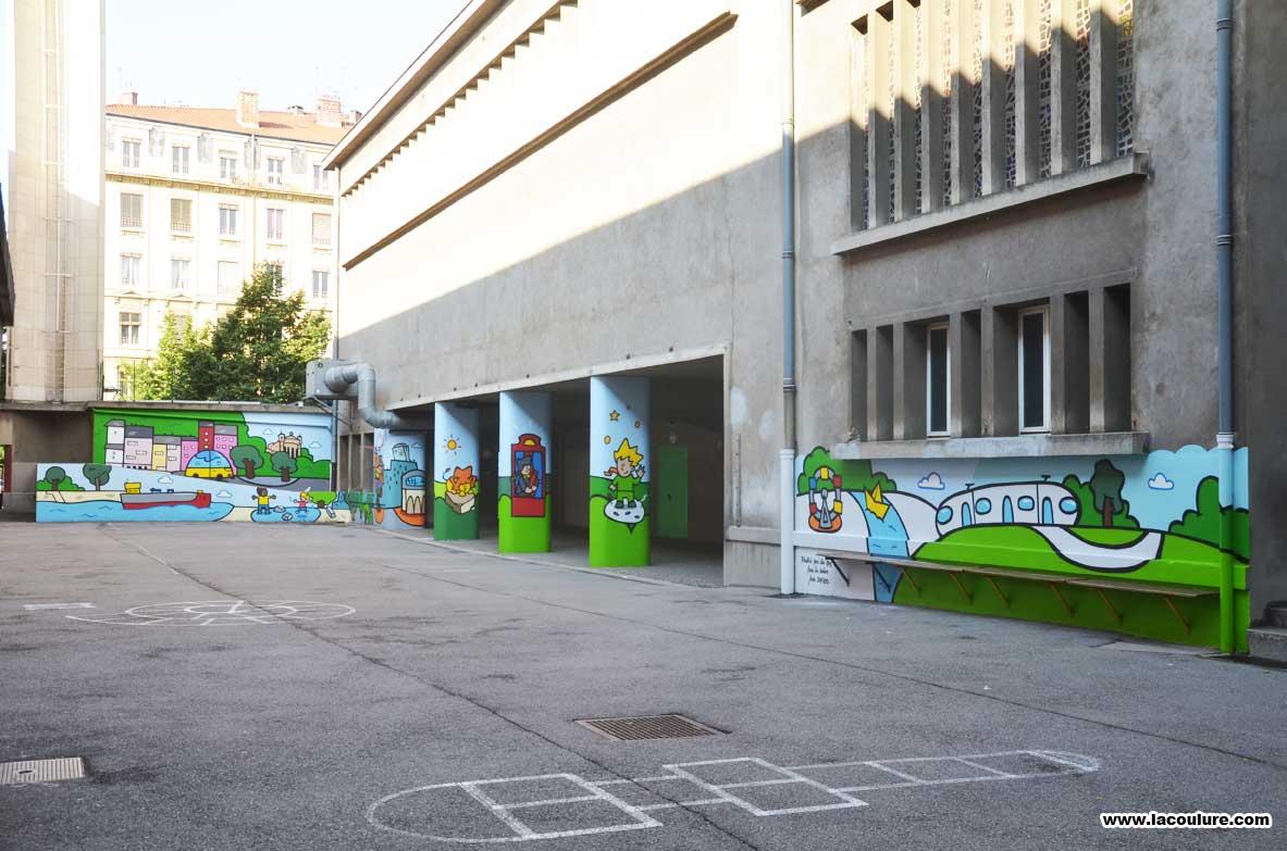 Peinture Murale Dans L Ecole Saint Michel à Lyon La Coulure