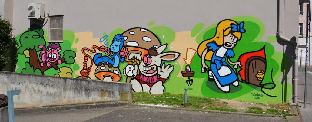 graffiti alice au pays des merveilles