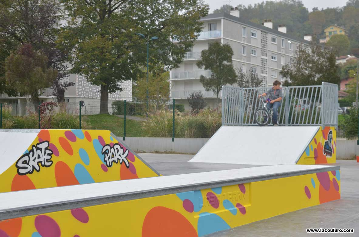 d co graffiti pour le skate parc de miribel la coulure. Black Bedroom Furniture Sets. Home Design Ideas