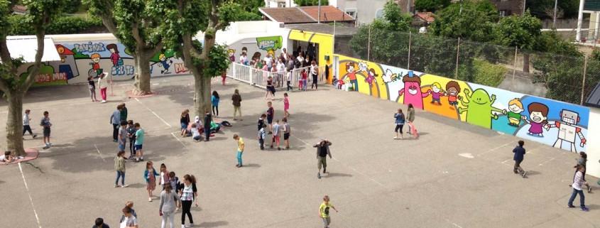 peinture murale atelier ecole primaire