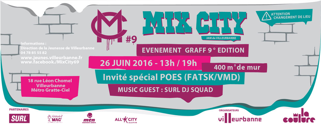 mix city 9 villeurbanne lyon graffiti 69