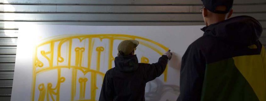 graffiti lyon la coulure