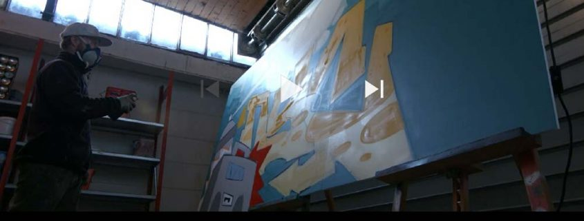 vidéo graffiti la coulure