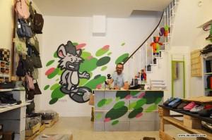 décoration graffiti magasin monde éthique lyon