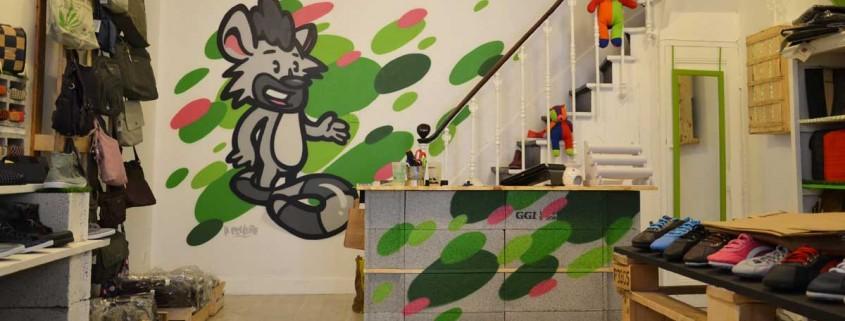 décoration graffiti magasin monde ethique lyon