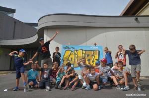 atelier street art pour les jeunes filles et garçons de tignieu