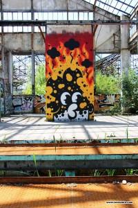 graffiti par monsieur poulet - bordeaux
