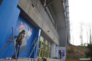 graffiti street art lyon sport foot basket