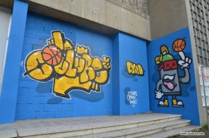 graffiti street art lyon sport foot basket
