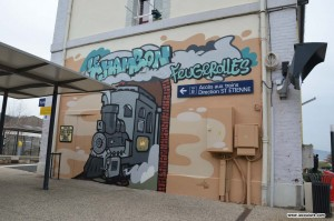 street art sncf train gare