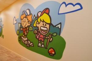 fresque graffiti enfants
