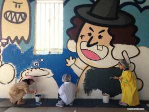 peinture murale ecole lyon