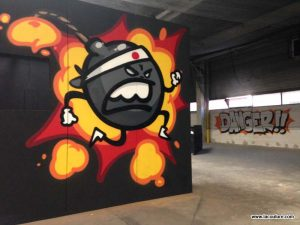 streetart paint ball lyon