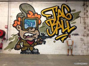 streetart paint ball lyon
