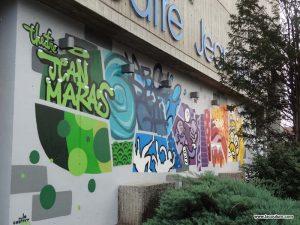la coulure graffiti street art lyon