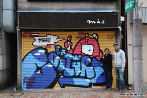 graffiti la coulure à tokyo